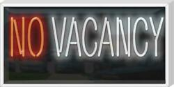 Outdoor No Vacancy Neon Sign | Jantec |32 X 16 | Motel Hotel Bed And Breakfast