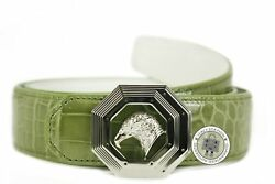 New Stefano Ricci Double Layers Octagon Eagle Buckles 38 Mm Light Green Shiny Cr