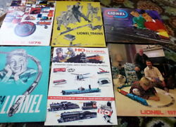 Vintage Lot Of 6 1950s-1970s Lionel Model Train Calalogs Cars Science Kits Toys