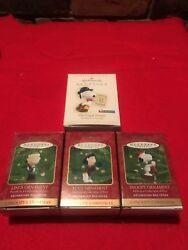 Lot of #4 Keepsake Ornaments. Snoopy Lucy Linus and Legal Beagle.