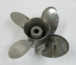 Johnosn Evinrude Outboard Propeller 13 X 24 4 Blade Stainless Steel 59