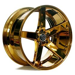 For 5 series 20 Staggered AC Wheels AC607 Platinum Gold Popular Rims Fit