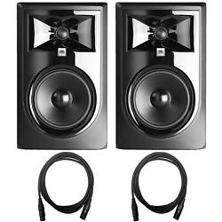Jbl 306p Mkii 6.5 Active Powered Studio Recording Monitor Speakers Pair W Cable