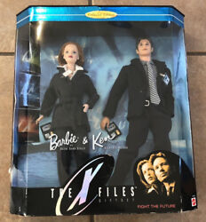 The X-files Giftset Sully And Mulder Barbie And Ken Dolls 19630 Mattel 1998 Misb
