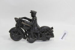 Old Harley Miniature Motorcycle Cast Iron Toy Vintage Fl Police Eps19705