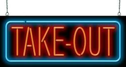 Take Out Neon Sign | Jantec | 32 X 13 | Restaurant Call In Chinese Order Diner