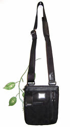 Verri Milano Black Leather Trim Men's Shoulder Bag Size Small NEW $290