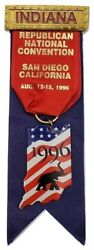 1996 Republican National Convention Indiana Badge