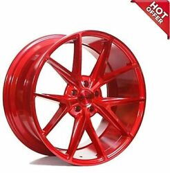 Fit Bentley 20 Staggered Niche Wheels M186 Misano Gloss Red Popular Rims