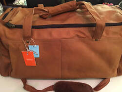 Latico Heritage Tour Bag Large Natural Soft Leather Nwt