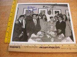 Jerry West Magic Johnson Los Angeles Lakers Forum Club Signed Photo 1980s