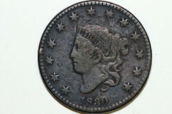 Very Fine N8 1830 Liberty Coronet Or Matron Head Large Cent Coin Lrg653