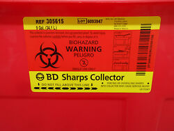 3d 306615 9 Gallon Sharps Containers W/ Clear Hinge Top 6/bx