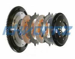 COMPETITION TWIN DISC RACING CLUTCH & FLYWHEEL KIT FOR HONDA CIVIC B16 1.6 CABLE