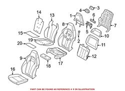 For Bmw Genuine Seat Back Cover Front Left 52108062297