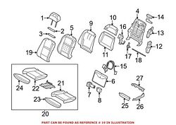 For Bmw Genuine Seat Back Cover Front Left 52107254851