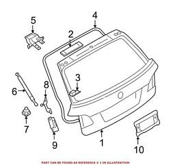 For Bmw Genuine Liftgate Rear 41627130799
