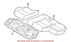 For Bmw Genuine Seat Cover Rear 52207366435