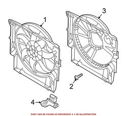 For Bmw Genuine Engine Cooling Fan Assembly 17428508253