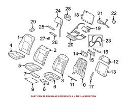 For Bmw Genuine Seat Cover Front Right 52107353052