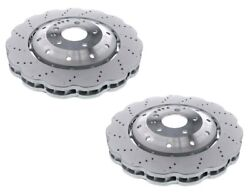 Pair Set Of Front Left And Right Oem Brake Disc Rotors Floating For Audi R8 Rs5