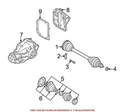 For Bmw Genuine Drive Axle Assembly Rear 33107533140