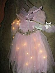 pottery barn kids PINK FAIRY LIGHT UP COSTUME 4 PIECE SETSIZE 3T NEWDRESS UP