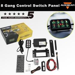 8 Gang On-Off Control Switch Panel Set Mount For Jeep Toyota Trucks UTV ATV Boat