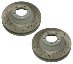 Pair Set Of 2 Front Oem Drill Brake Disc Rotor 350 For Porsche 996 911 Race Cars