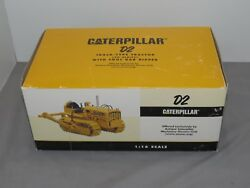 Vintage 1/16 Caterpiller D2 Crawler Tractor W/ Tool Bar Ripper By Speccast Nib