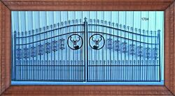 Free Shipping* Inc Post Package Driveway Gate Steel - Iron 16 FT WD DS Security
