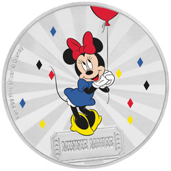 Niue 2 Dollar 2019 - Minnie Mouseandtrade Mickey Mouseandtrade And Friends 2. - 1 Oz Silber Pp