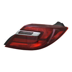 New Replacement Passenger Side Outer Tail Light Assembly NSF 166-2643 wChrome