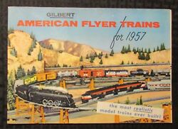 1957 Gilbert Toys American Flyer Trains And Accessories 48pg Catalog Fn 6.0