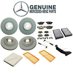Custom Kit For Mercedes Front & Rear Disc Brake Rotors Pads & Sensors Air Filter