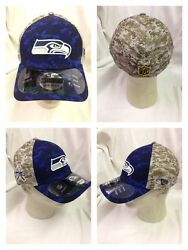 Nfl Seattle Seahawks New Era Official Onfield Salute To Service Sideline Hat