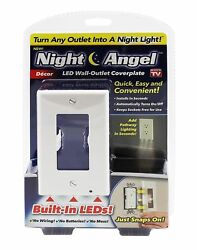 (6-Pack) LED Night Lights Snap On Outlet Wall Plate Cover Decor White