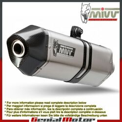 Mivv Exhaust Muffler Speed Edge Stainless Steel For Bmw F 650 Gs 2008 2012