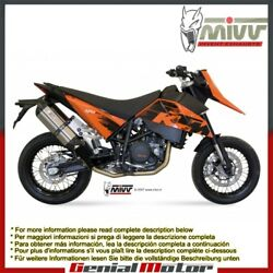 Mivv Exhaust Mufflers Suono Stainless Steel For Ktm 690 Sm 2007 2012