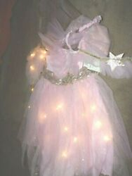 pottery barn kids PINK FAIRY LIGHT UP COSTUME 4 PIECE SET4-6 NEWDRESS UP