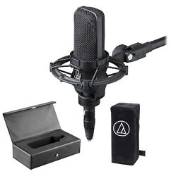 Audio Technica AT4033A Condenser Microphone Mic+Shockmount+Dust Cover+Case *used