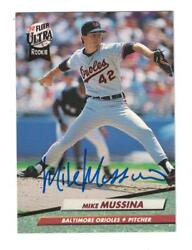 Mike Mussina Autograph 1992 Ultra Rookie Baseball Card Signed Baltimore Orioles
