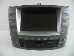 2008 LEXUS IS250 NAVIGATION GPS SCREEN CLIMATE CONTROL 86111-53140 OEM 450 #80 A