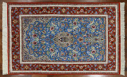 5' X 8' Hand Knotted Wool & Silk Signed Authentic Oriental Rug - SA2794