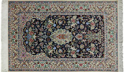 Hand Knotted Wool & Silk Signed Oriental Area Rug 5' X 8' - SA2734