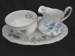 Paragon - Forget Me Not - After Dinner Creamer And Sugar Bowl And Tray