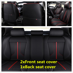 Luxury Microfiber Leather Car Seat Cover 5-Seats Front+Rear Full Set Cushion