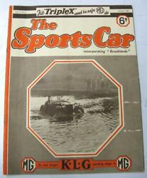 The Sports Car Mg House Magazine 1936 Vol.2 No.2 Incl Outlook For Gp Racing 1936