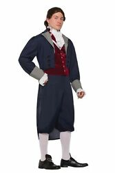 Thomas Jefferson Costume Mens Colonial Officer American Founding Father Std