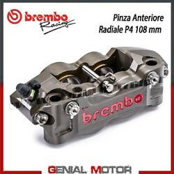 Radial Rear Brake Caliper Brembo Racing Right Cnc P4-32/36 108 Mm Without Pad